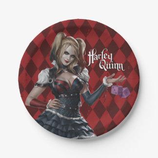 Harley Quinn con los dados borrosos Platos De Papel