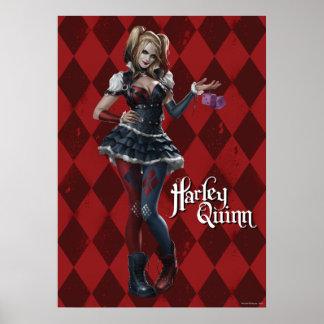 Harley Quinn con los dados borrosos Póster