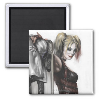 Harley Quinn Illustration Refrigerator Magnet