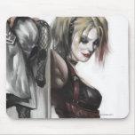 Harley Quinn Illustration Mouse Pad