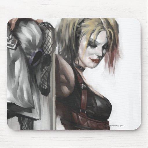 Harley Quinn Illustration Mousepad