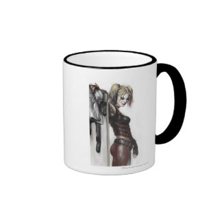 Harley Quinn Illustration Ringer Mug