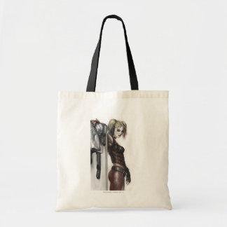 Harley Quinn Illustration Tote Bag