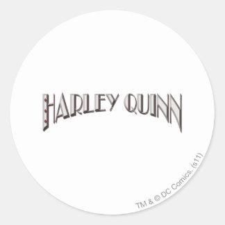 Harley Quinn - logotipo Pegatina Redonda