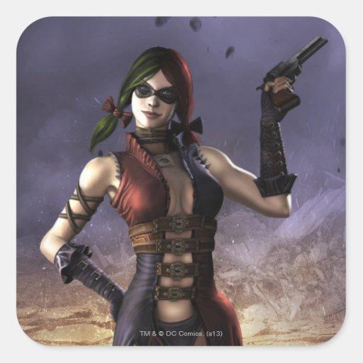 Harley Quinn Pegatina Cuadrada