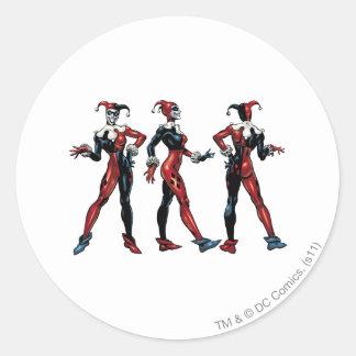 Harley Quinn - todos los lados Pegatinas Redondas