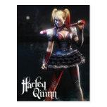 Harley Quinn With Bat Postcard