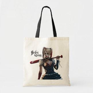 Harley Quinn With Bat Tote Bag