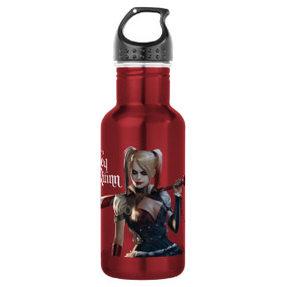 Harley Quinn With Bat Water Bottle