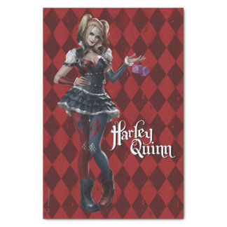 "Harley Quinn With Fuzzy Dice 10"" X 15"" Tissue Paper"
