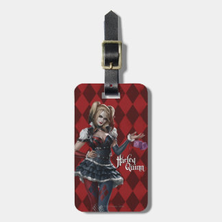 Harley Quinn With Fuzzy Dice Bag Tag