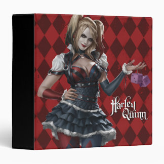 Harley Quinn With Fuzzy Dice Binder