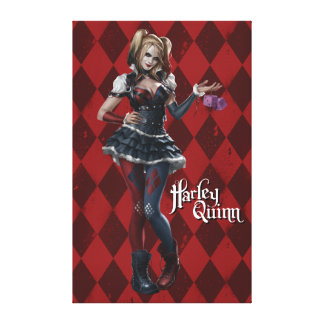 Harley Quinn With Fuzzy Dice Canvas Print