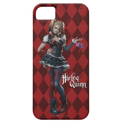 Harley Quinn With Fuzzy Dice iPhone SE/5/5s Case