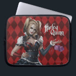 "Harley Quinn With Fuzzy Dice Computer Sleeve<br><div class=""desc"">Batman: Arkham Knight 