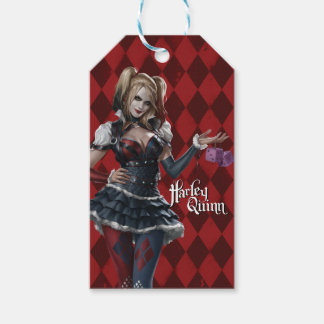 Harley Quinn With Fuzzy Dice Gift Tags