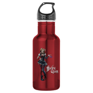 Harley Quinn With Fuzzy Dice Stainless Steel Water Bottle