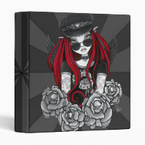 harley, red, angel, tattoo, birds, tattoos, fantasy, fairy, faery, faerie, motorcycle, biker, Binder with custom graphic design