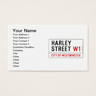 Harley Street Business Card