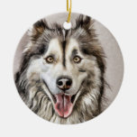 Harley the Husky Ornaments