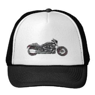 Harley VRSCDX Hand Painted Art Brush Template Bike Mesh Hats