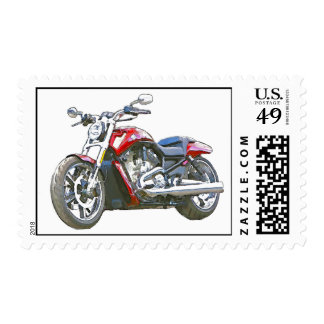 Harley VRSCF V Rod Hand Painted Art Brush Stamp