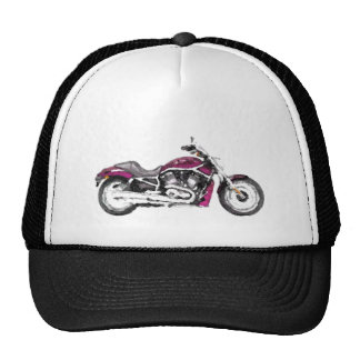 Harley WRSCAW V - gorra pintado a mano del cepillo