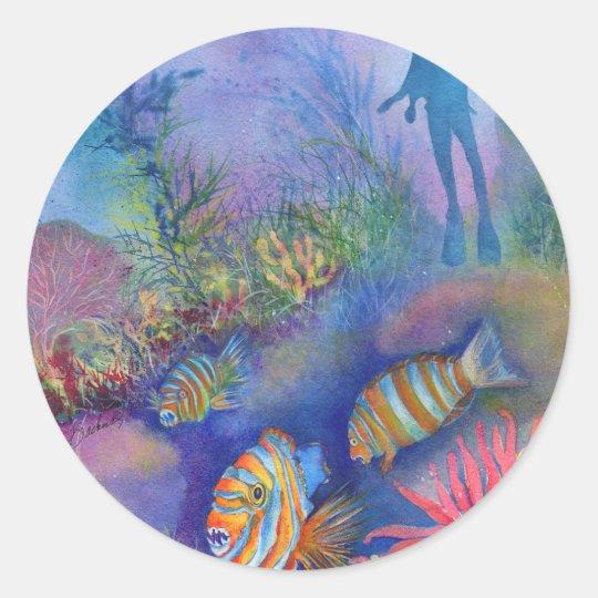 Harliquin Fish Classic Round Sticker