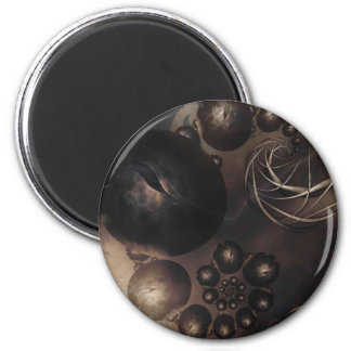 Harliquins Round Magnet