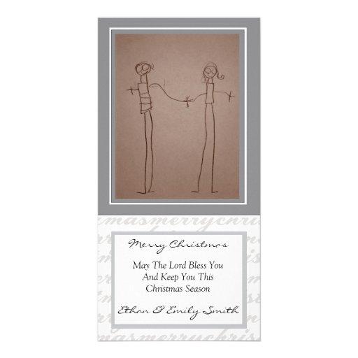 Harlock - Merry Christmas In Grey - 4 x 8 card Photo Card