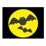 Harloquin Halloween Bats Post Cards