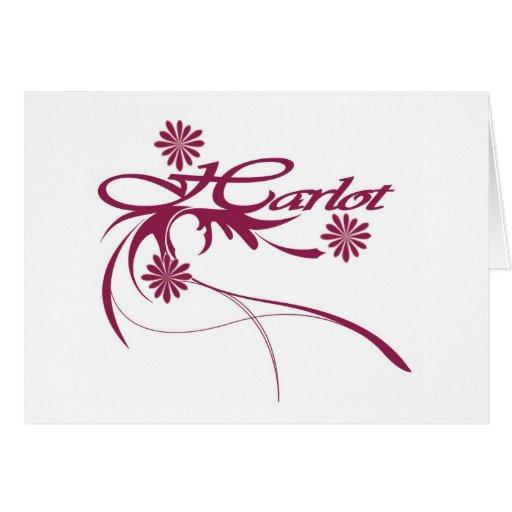 harlot greeting card