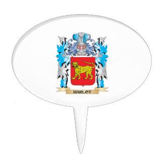 Harlot Coat of Arms - Family Crest Cake Pick