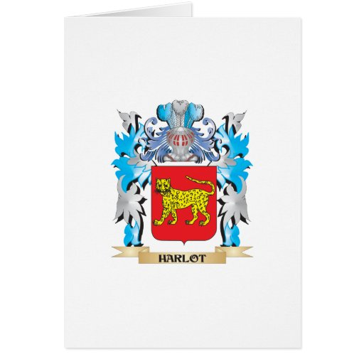 Harlot Coat of Arms - Family Crest Greeting Card