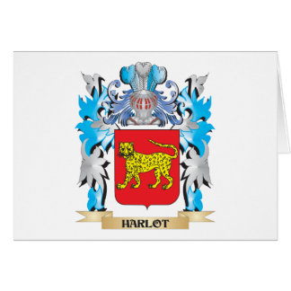 Harlot Coat of Arms - Family Crest Cards