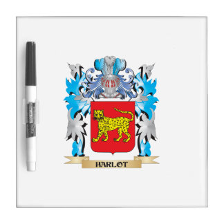 Harlot Coat of Arms - Family Crest Dry-Erase Boards
