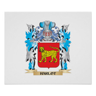 Harlot Coat of Arms - Family Crest Posters