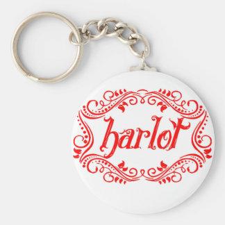 Harlot White Keychain