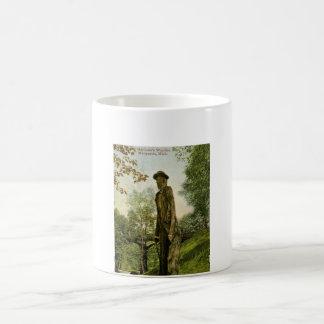 Harlow s Wooden Man Marquette Michigan Coffee Mug