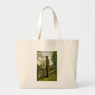 Harlow's Wooden Man Marquette, Michigan Large Tote Bag