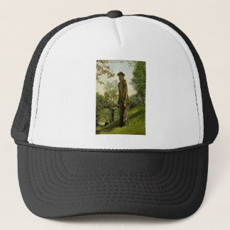 Harlow's Wooden Man Marquette, Michigan Trucker Hat