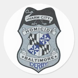 Harm City Homicide Logo Sticker