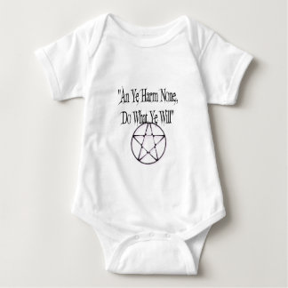 Harm None, Do What You Will Baby Bodysuit