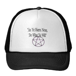 Harm None, Do What You Will Mesh Hat
