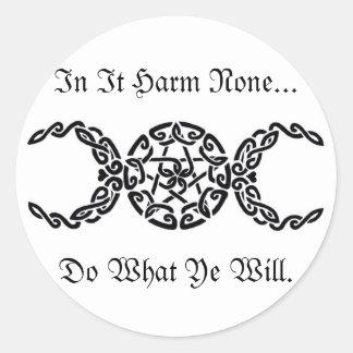 Harm None Sticker