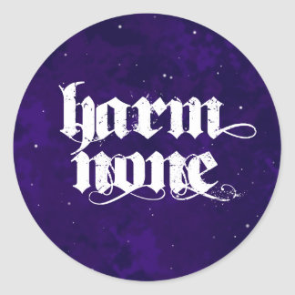 Harm None Stickers