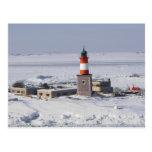 Harmaja Lighthouse Helsinki Finland Postcard