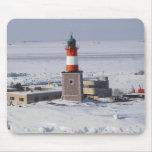 Harmaja Lighthouse Ice Helsinki Finland Mousepad