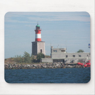 Harmaja Lighthouse in Finland Mouse Pad