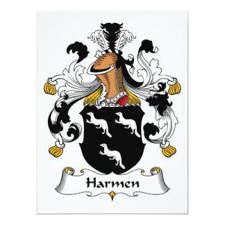 Harmen Family Crest Card